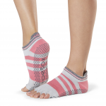 ToeSox Half Toe Low Rise Grip Socks in Whip