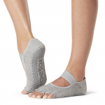 ToeSox Half Toe Mia in Heather Grey