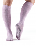 ToeSox Full Toe Knee High Grip Socks in Diamond Freesia