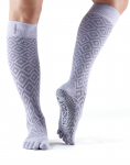 ToeSox Full Toe Knee High Grip Socks in Diamond Lotus