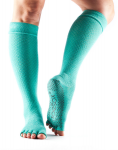 ToeSox Half Toe Knee High Grip Socks in Fishnet Lagoon