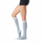 ToeSox Full Toe Knee High Grip Socks in Frost