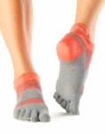 ToeSox Sport Socks Lolo in Papaya 4AM