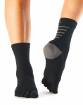 ToeSox Mediumweight Sport Sock in Black
