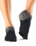 ToeSox Mediumweight No Show Sports Socks in Black
