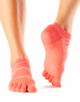 ToeSox Mediumweight No Show Sports Socks in Coral
