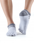 ToeSox Mediumweight No Show Sports Socks in Salt