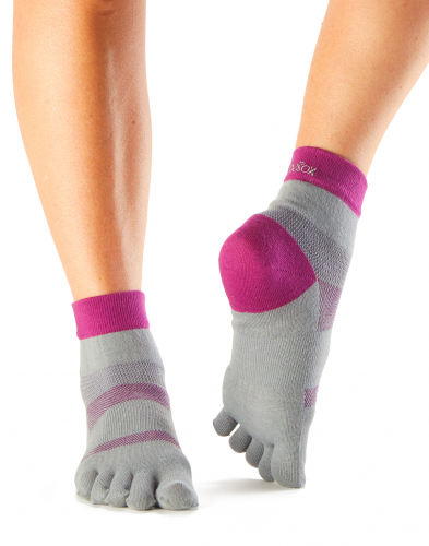 ToeSox Sport Sock Minnie in Orchid 4AM