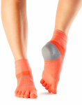 ToeSox Sport Sock Minnie in Papaya 4AM