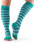 ToeSox Half Toe Knee High Grip Socks in Emerald