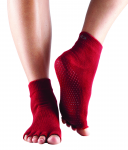 ToeSox Half Toe Ankle in Red
