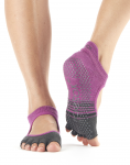 ToeSox Half Toe Bellarina in Mulberry Stripe