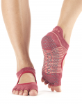 ToeSox Half Toe Bellarina in Pomegranate Stripe