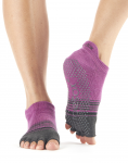 ToeSox Half Toe Low Rise in Mulberry Stripe