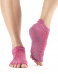 ToeSox Half Toe Low Rise in Ruby