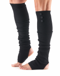 ToeSox Rae Open Heel Leg Warmer in Black