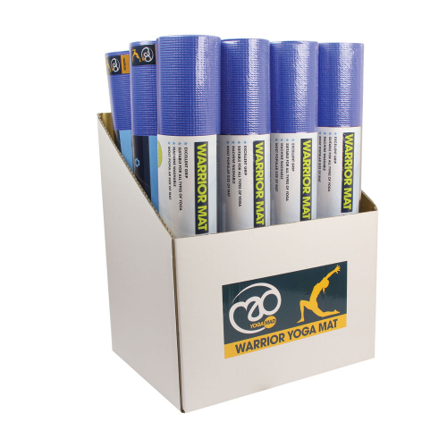 Box of 12 Blue Warrior Yoga Mats