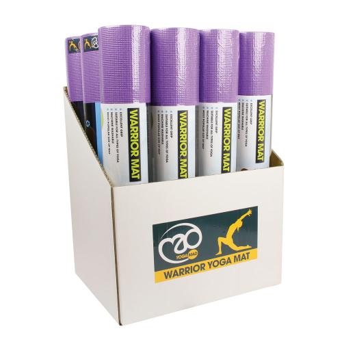 Box of 12 Purple Warrior Yoga Mats