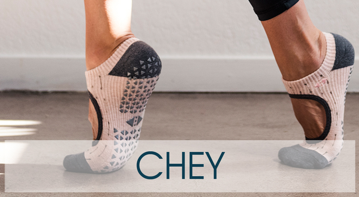 Chey grip socks by Tavi Noir