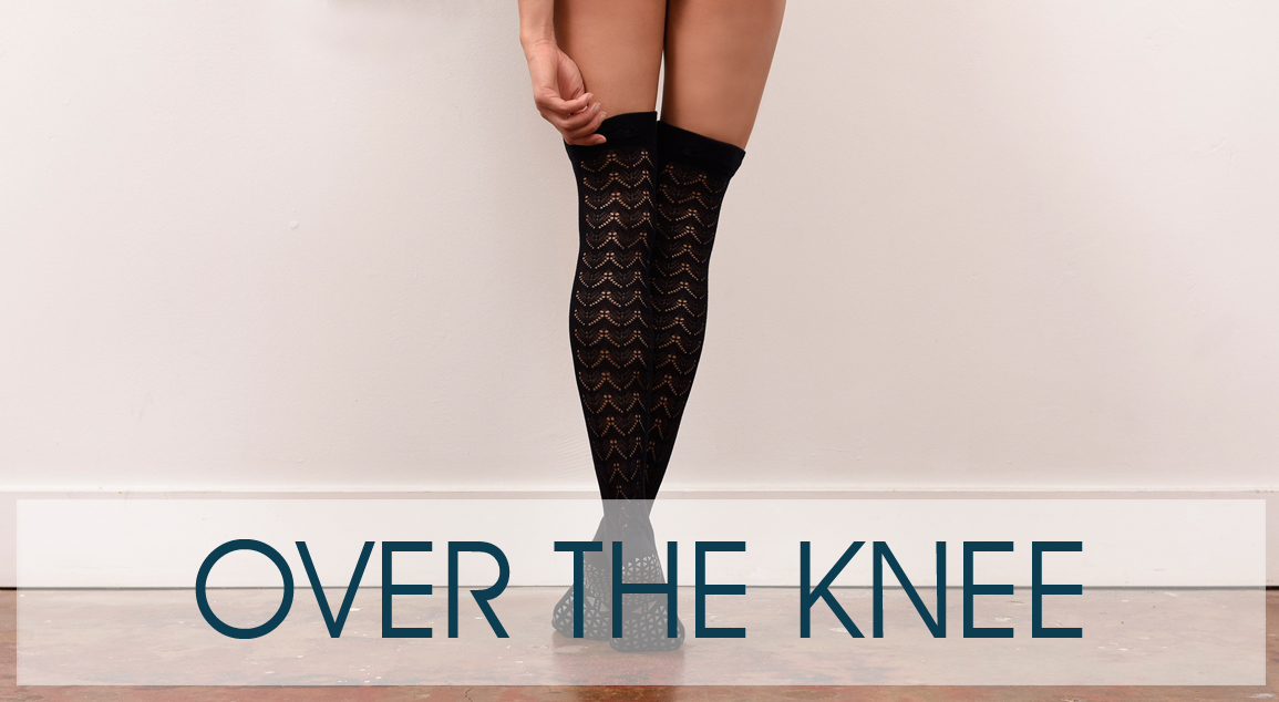 Over the Knee Tavi Noir socks