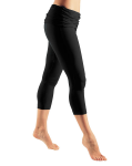 Fold Over Capris by Gossypium - Black