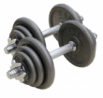 "20KG Hammertone Dumbbell Set 14"" x 1"" Bars"