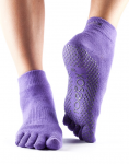 ToeSox Full Toe Ankle Grip Socks in Light Purple