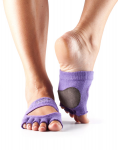 Dance ToeSox Half Toe Releve Purple
