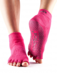 ToeSox Half Toe Ankle Grip Socks in Fuchsia