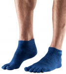 ToeSox Lightweight Ankle in Brindle Blue