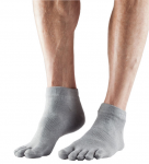 ToeSox Lightweight Ankle in Brindle Grey