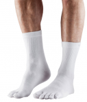 ToeSox Lightweight Crew in White