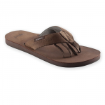 Mens Encino Leather Sandal in Walnut