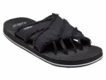 ToeSox Mens Bohemian Sandal in Black
