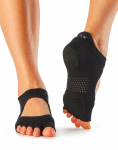 ToeSox Half Toe Prima Bellarina Dance Sock in Black