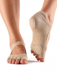 ToeSox Half Toe Prima Bellarina Dance Sock in Nude