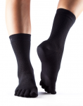 ToeSox Casual Crew in Fishnet Black